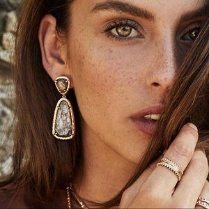 SOLDOUT Kendra Scott Crystal grey Illusion earring